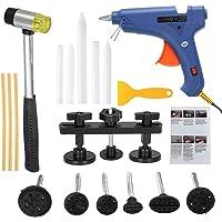 KKmoon Dent Repair Kit,Herratamientas de Reparacion de Abolladuras y Pistola de Pegamentos para Coche (Set 18pcs)