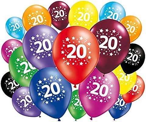 FABSUD Lote de 20 globos cumpleaños 20 años