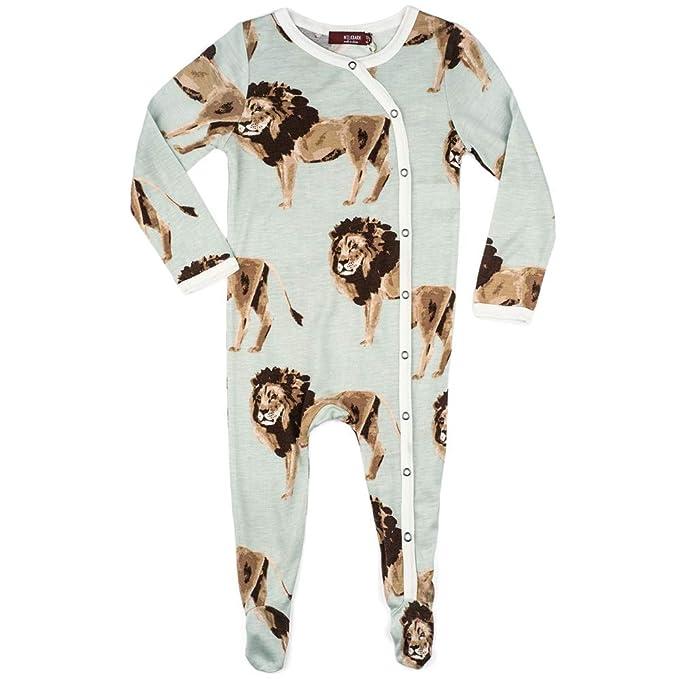 Amazon.com: MilkBarn - Pelele de bambú para bebé (león ...