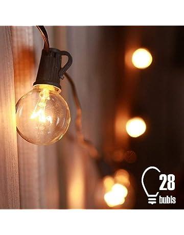 Tomshine Cadena de Luz, G40 de 7.62 m E12 Base Guirnalda Luces con 25 Bombillas