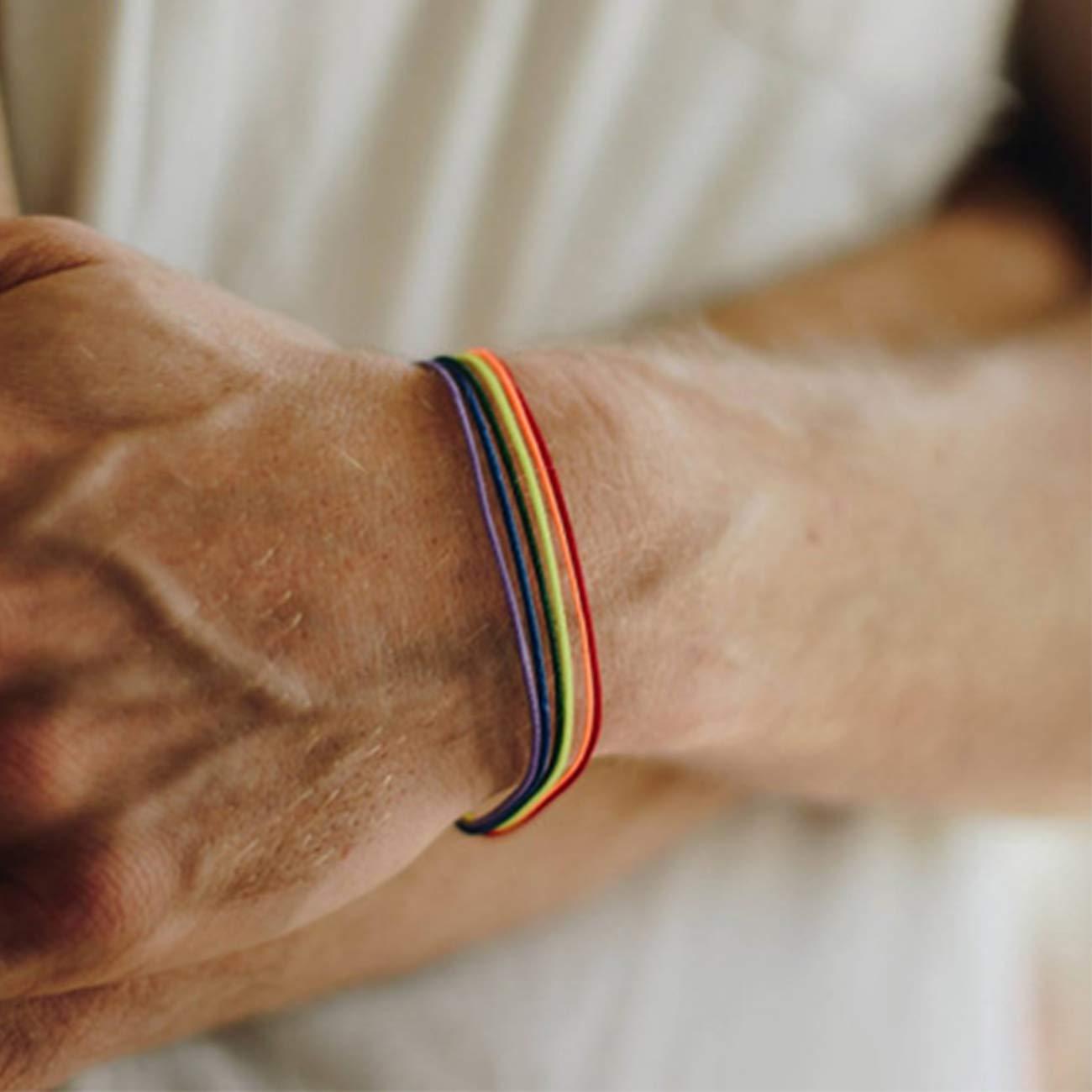 Pride Tinsow 5 Pack Pride Month Rainbow Bracelet Handmade Wristband LGBTQ