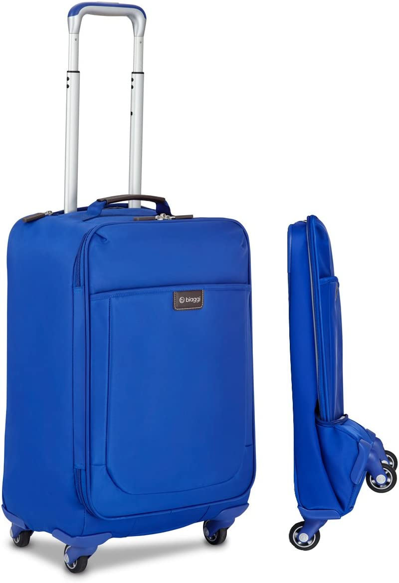 Biaggi Leggero Foldable Spinner Carry-On Suitcase - Compact Luggage 22-Inch - As Seen on Shark Tank - Cobalt Blue