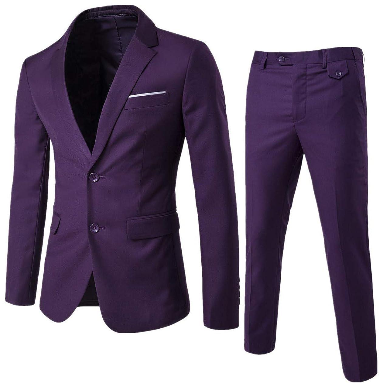 局実り多いエレメンタルWEEN CHARM メンズスーツ セットアップ 3ピース スリム ビジネス 結婚式 チェック柄 紺色