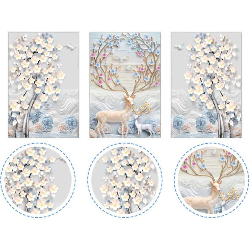 150X75CM/59X29inch Full Diamond Painting 5D DIY Embroidery Round Drill Sika deer Home Decor Gift Crafts&Sewing Needlework Cross-Stitch Sewing by CRPSEN