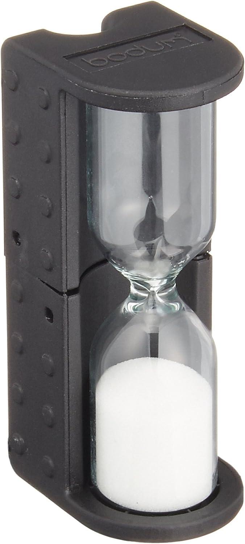 Bodum French Press Coffee Hourglass Timer, 4 Minutes, Black
