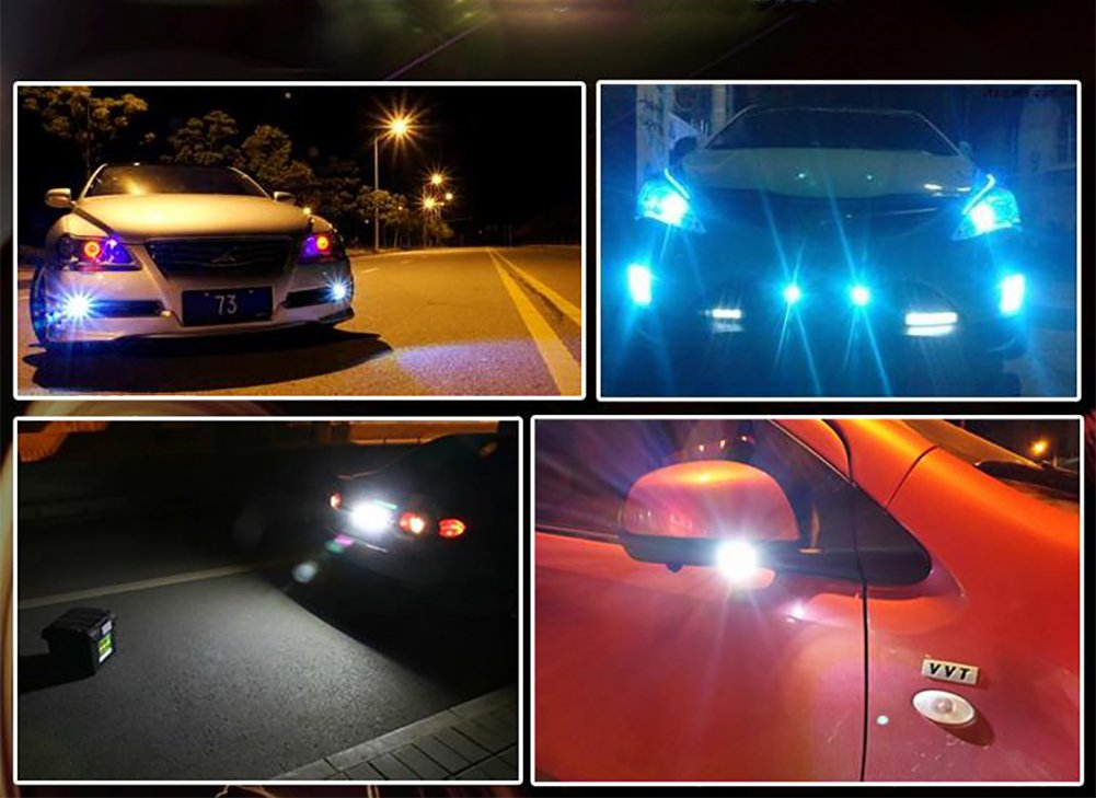 Velidy Blanc 2/x DC 12/V 15/W Eagle Eye LED DRL DRL sauvegarde lumi/ère de voiture de moto LED Feux de recul Feux de circulation diurnes de stationnement