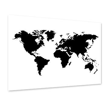 landkarte schwarz weiß PHOTOLINI Poster 'Weltkarte' 40x50 cm schwarz Weiss Motiv XXL  landkarte schwarz weiß