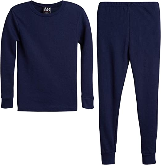 Bedtime Base Layer Set Cold Weather Fitted Pajamas Boys Artic Pole 2-Piece Boys Thermal Long Underwear Set