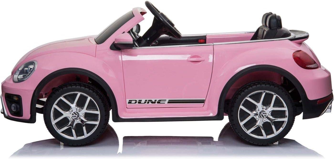 MINICARS VW New Beetle 123 cm Voiture /électrique pour Enfant Rose