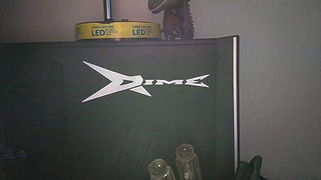 Dimebag Darrel Guitar Decal Silhouette WHITE Sticker 6