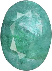 Real Gems Hermosa Esmeralda Natural 7.00 CT. Piedra Suelta, Piedra Preciosa Suelta Esmeralda Cortada Ovalada fabricación de Joyas