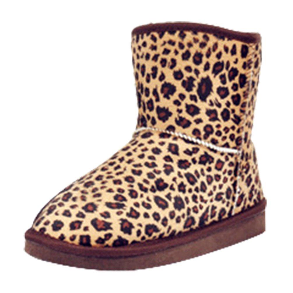 Yiiquan Leopardo Donna Stivaletti Classico Leopardo Yiiquan Stampa Stivali Completamente Foderato Di Faux Pelliccia Stivali Piatti Caldo Inverno Neve Stivali  Leopardo e6f8ae