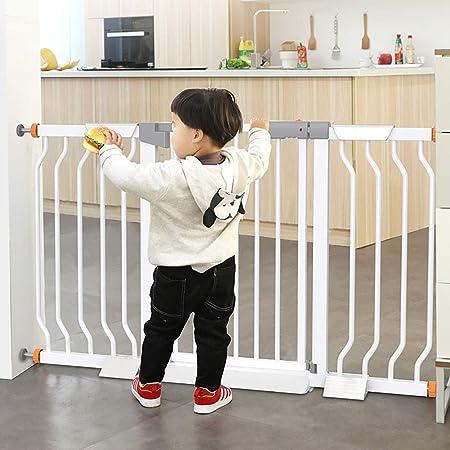 ERRU Barrera Seguridad Escaleras para Bebés Puertas De Acero Sin Perforación - Pet Safe Guardia con Puerta Abierta De 90 ° para Puertas De Escaleras, Rango De Ancho 76-174 Cm (Size : 160-167cm): Amazon.es: Hogar