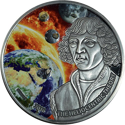 2016 BF Heliocentric Theory PowerCoin Nicolaus Copernicus 1 Oz Silver Coin 1000 Francs Burkina Faso 2016 Antique...