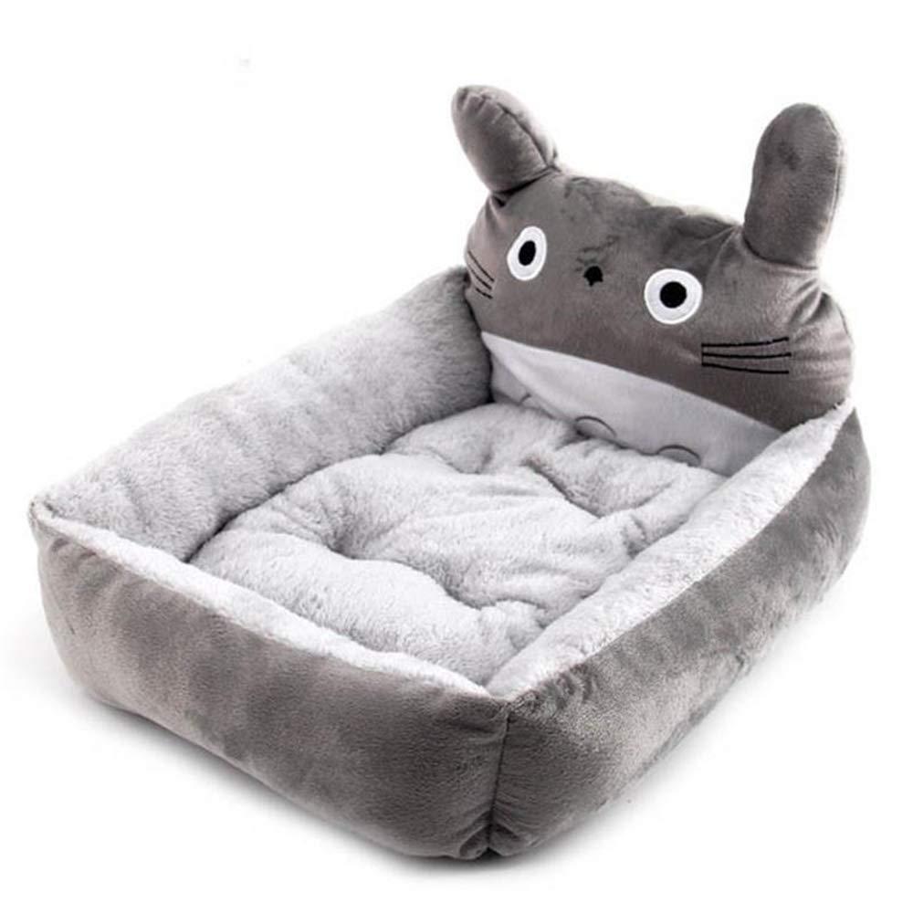 B 58CMX48CMX15CMByx Pet Nestpet Supplies Kennel Cat Litter Dog Mat Small Dog Teddy Pet Nest Dog Bed Cat Winter Kennel Pad House Cute Animal Shape Nest Pet nest (color   E, Size   48CMX40CMX14CM)