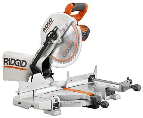 Ridgid R4120 Saw, 12-Inch Compound Miter with Laser