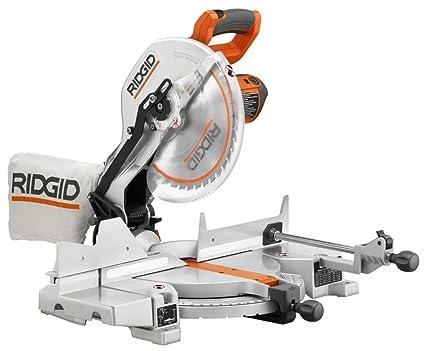 ridgid r4120 saw 12 inch compound miter with laser power miter rh amazon com