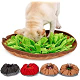 """Dog Snuffle Mat, Womdee Nosework Blanket 18.9 * 18.9"""" Training Feeding Mat for Encourage Natural Foraging Skills and Stress Release, Durable and Machine Washable Fun Play Mat for Dogs"""