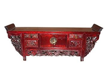 Altar de consola chino tallado en madera. Antigüedad: 80 años