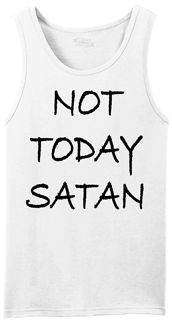 Comical Shirt Mens Not Today Satan Funny Religious Tee Tank Top