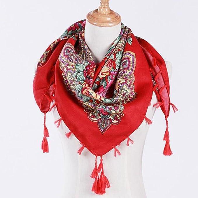 fb03e8a26357 Hunpta Mode Femme carré Tête Écharpe Wraps écharpes pour femmes Imprimé  foulards de cou, Green  Amazon.fr  Sports et Loisirs