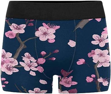 INTERESTPRINT Mens Boxer Briefs Underwear Vintage Flowers XS-3XL