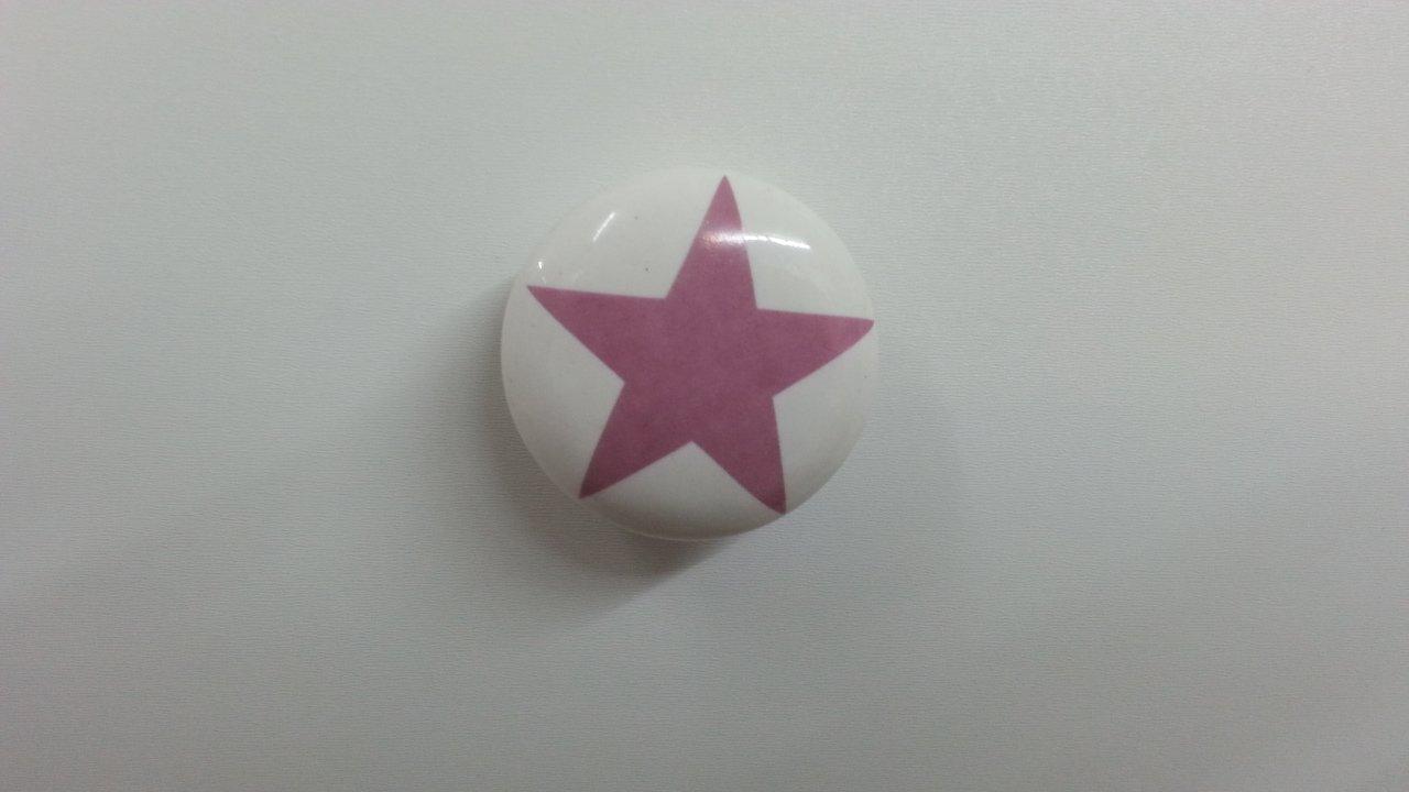 Lafinesse M/öbelknopf Stern mintgr/ün Keramik /Ø 4 cm Griff Knauf Schrankknopf