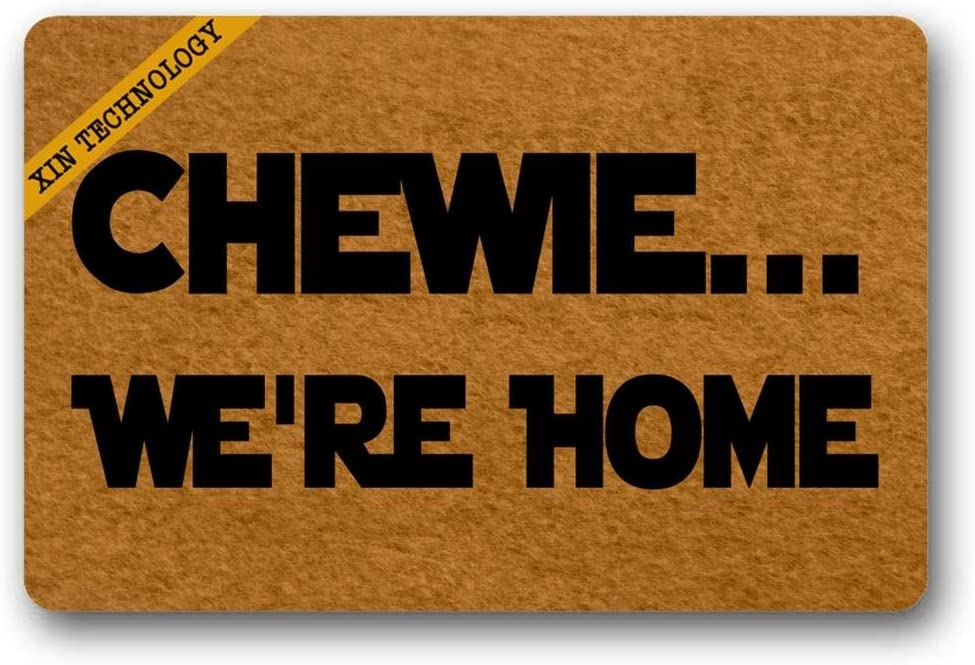 Artsbaba Welcome Doormat Chewie We're Home Door Mat Rubber Non-Slip Entrance Rug Floor Door Mat Funny Home Decor Indoor Mat 23.6 x 15.7 Inches