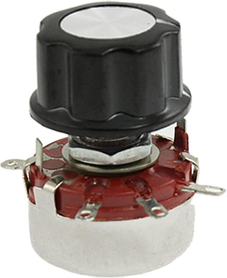 sourcingmap Replacement 6mm Shaft Dia 470K Ohm 2W Pots Potentiometer w Knob
