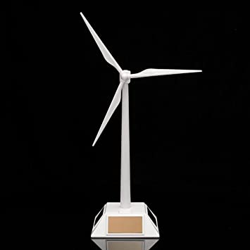 SODIAL Molino de viento solar modelo de plastico Turbina eolica ...