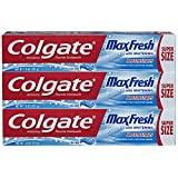 Health & Personal Care : Colgate Max Fresh Toothpaste with Breath Strips- Cool Mint - 7.8 ounce (3 Pack)