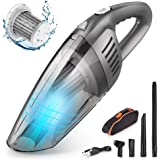 Handheld Vacuum - 7000PA High Power Cordless Car Vacuum Cleaner - Portable Hand Vacuum by Li-ion Battery Rechargeable…