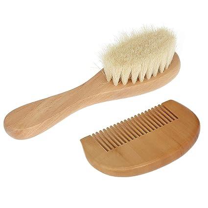 ECYC Cepillo para el cabello bebé Recién nacido mango de madera ...