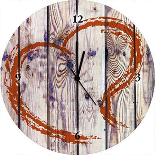 Artland Qualitätsuhren I Funk Wanduhr Designer Uhr Glas Funkuhr Größe: 35 Ø Architektonische Elemente Creme A7MV