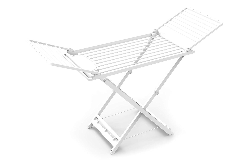 Sp-Berner Tendedero Plegable con alas 100/% Reciclado Blanco 164 cm