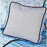 Caden Lane Classic Collection Bedding Classic Square Pillow, Blue