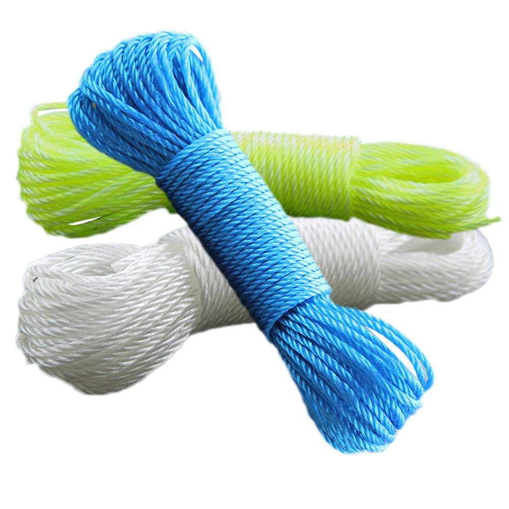 SMARTRICH Cuerda de Nailon de Colores Tendedero para la Ropa al Aire Libre 10 M Yellow 20 m de Largo Nailon 10 m 10m//20m