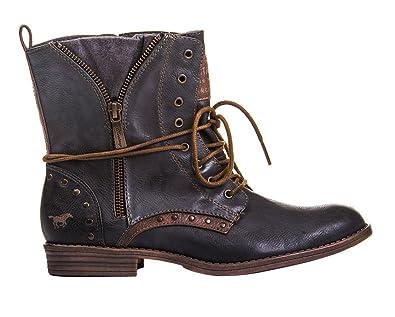 d291858f67 Mustang shoes bottines à lacets bootys (graphite) - Gris - Graphit, 42 EU
