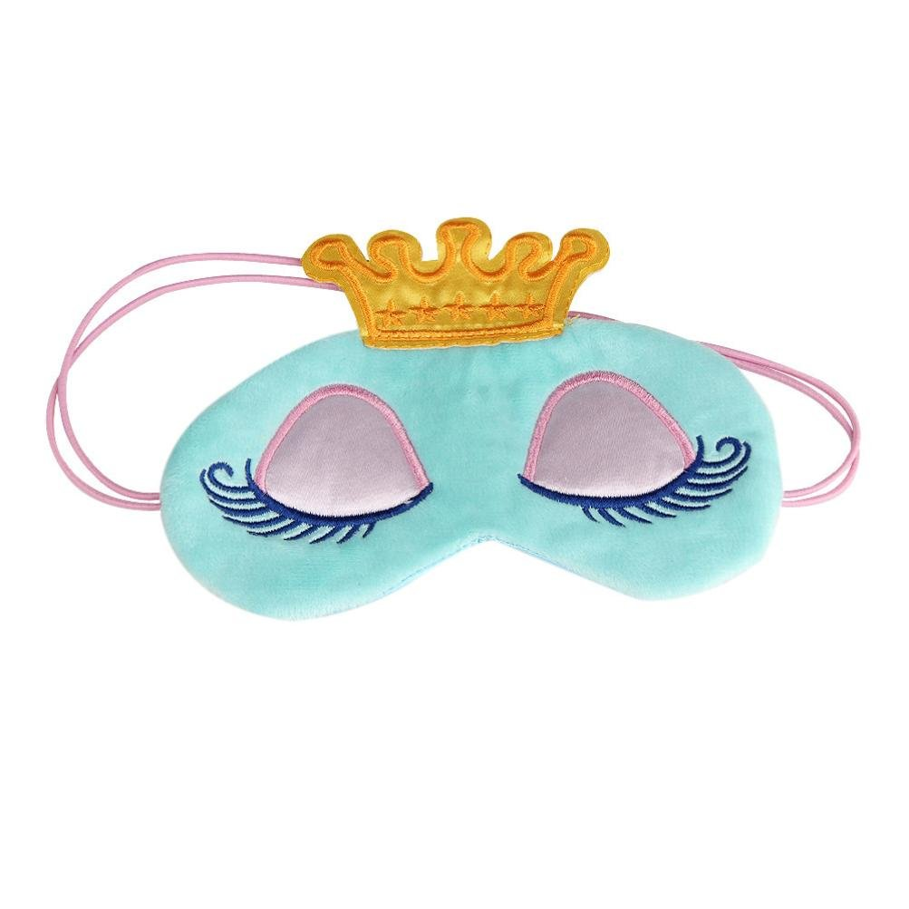 Sleep Mask, CieKen Cute Eyes Cover Crown Style Travel Sleeping Blindfold Shade Eye Mask, Super-Soft and Comfortable Eye Mask (blue)