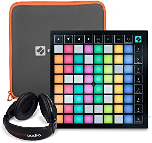 Novation Launchpad X Ableton Live Grid Controller Bundle W/ Novation Launchpad Soft Carry Sleeve + Headphones