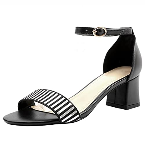 751ca4befd7 Artfaerie Women s Mid Heels Mary Janes Strappy Court Shoes Open Toe Sandals  Block Heel Summer Buckle Pumps  Amazon.co.uk  Shoes   Bags