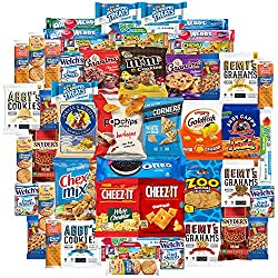 Cookies Chips & Candies Variety Pack Bundle Assortment Includes Doritos Goldfish Laffy Taffy Rice Krispies Sour Patch Oreos