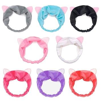 Cute Cat Ear Hairband Headband Yoga Sports Hair Accessory Face Mask Makeup Tools