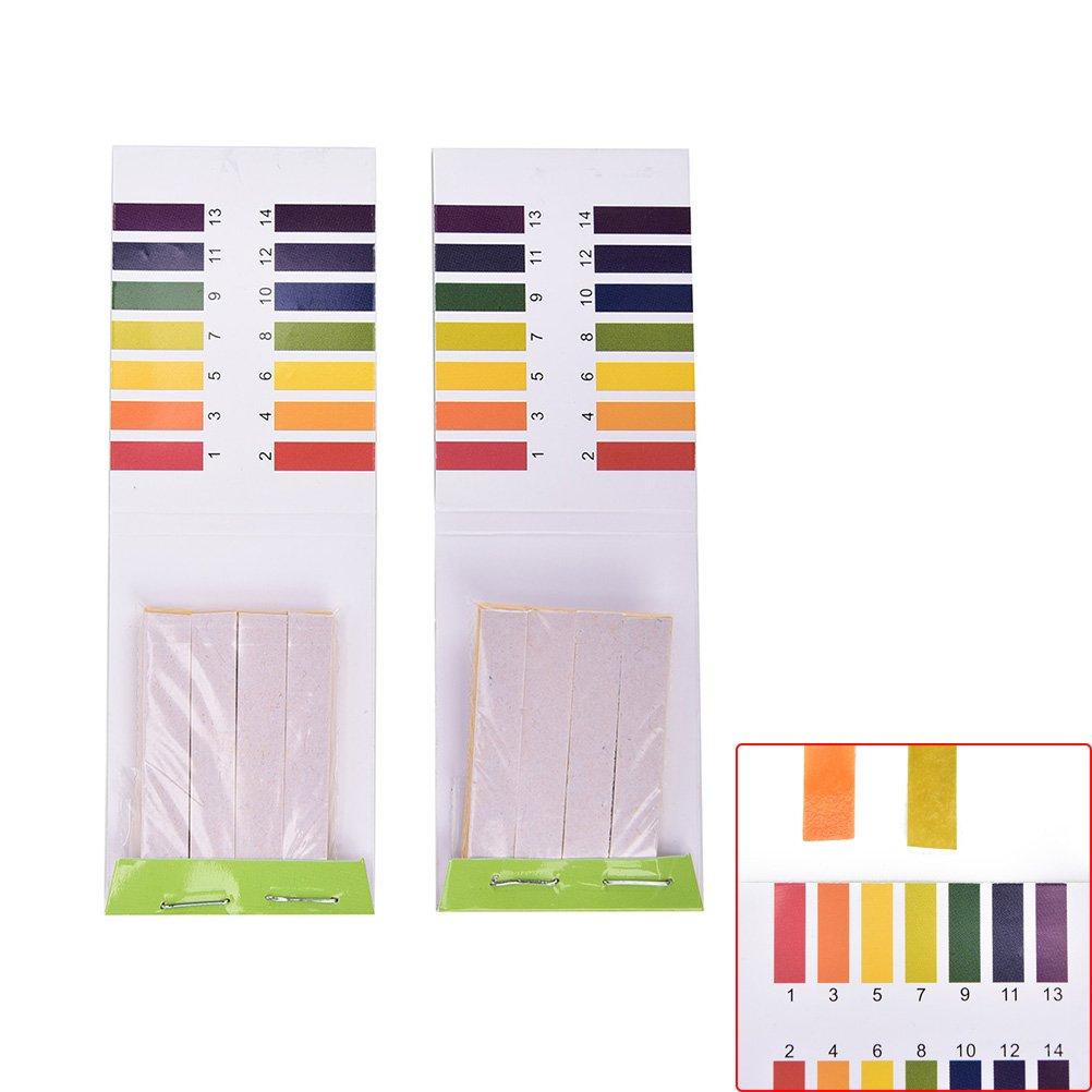 TUANTUAN 10 Packs PH Test Strips PH 1-14 Test Indicator Litmus Paper Strips Tester for Saliva Urine Water Soil Testing (800 Strips) by TUANTUAN (Image #3)