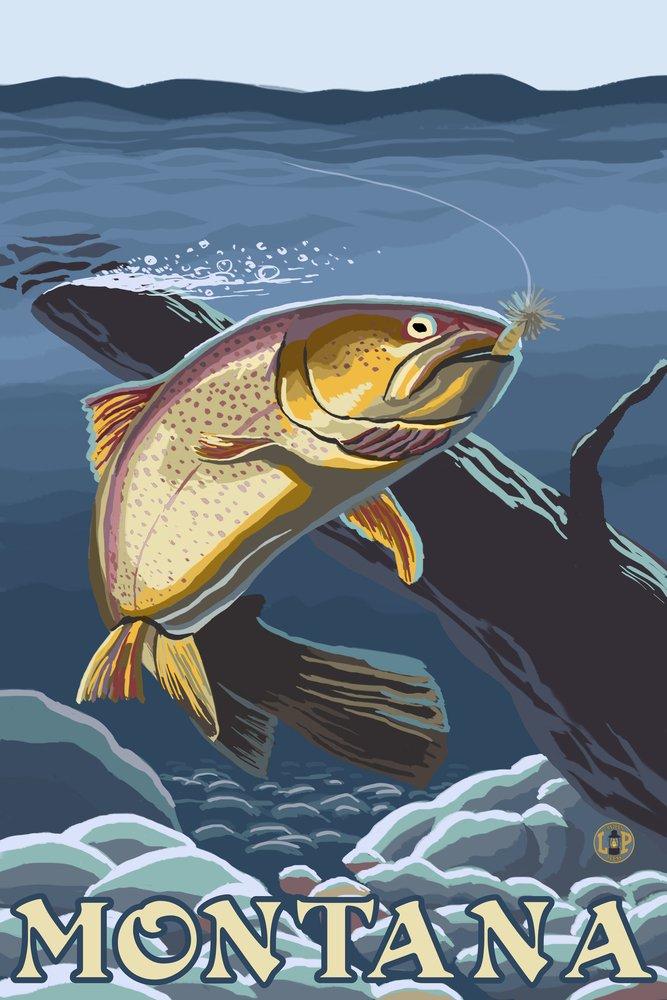 品質が完璧 Trout Fishing 8oz Cross-Section - (12x18 Montana (12x18 Art Print, Print, Wall Decor Travel Poster) by Lantern Press B074S4V8C9 8oz Coffee Bag 8oz Coffee Bag, 信玄十穀屋:3c293a3e --- hohpartnership-com.access.secure-ssl-servers.biz