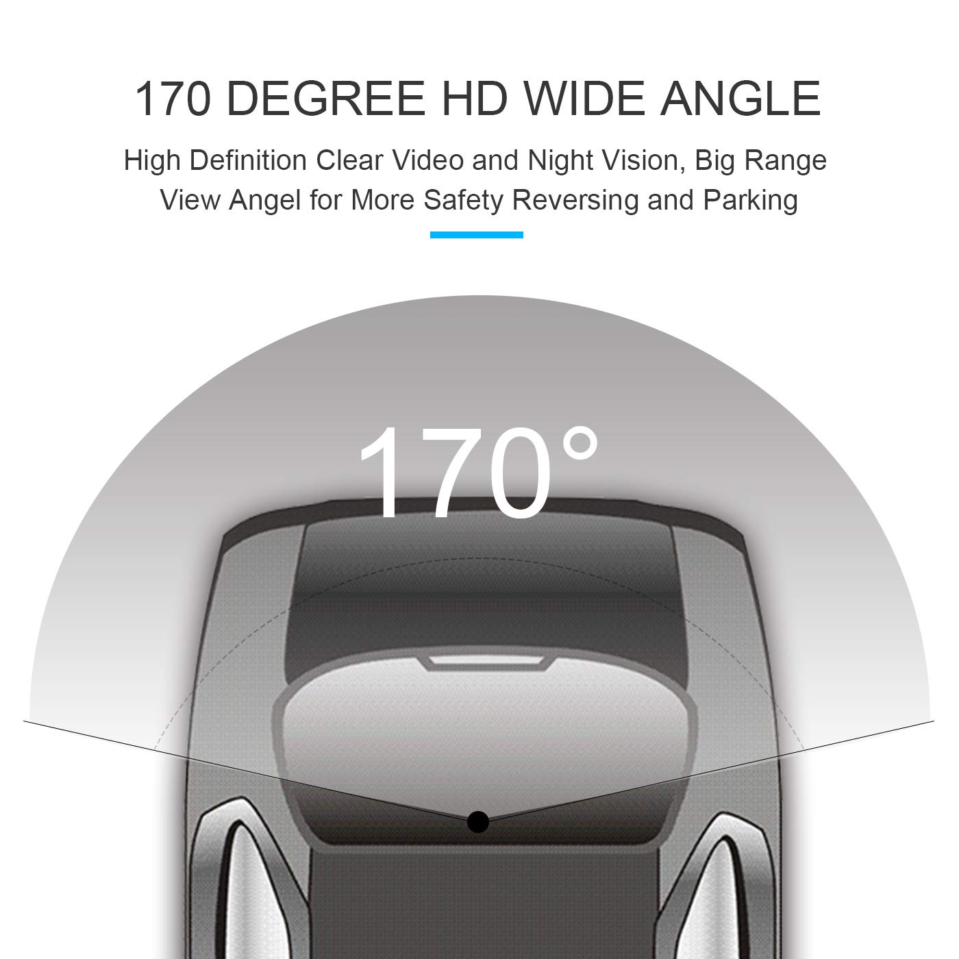 Yingly Coche Universal Revertir Asistencia de Copia de Seguridad de la C/ámara de Aparcamiento con 8 LED de visi/ón nocturna