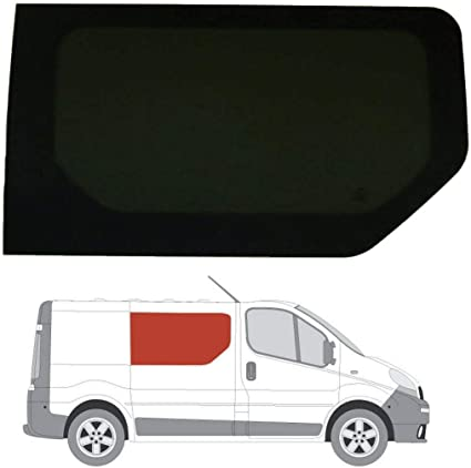Mano derecha, tintado oscuro fijo ventana para Opel Vivaro (02 – 14) Panel lateral puerta corredera contrario: Amazon.es: Coche y moto