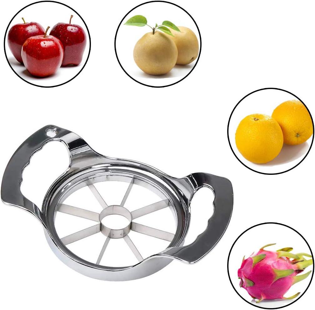 Apple Slicer 8-12 Blade Extra Large Apple Corer Peeler,Stainless Steel Ultra-Sharp Fruit Corer /& Slicer,Apple Cutter,Wedger,Pitter,Decorer Tool,Divider for Up to 4~7 Inches Apple and Pear(2PCS)