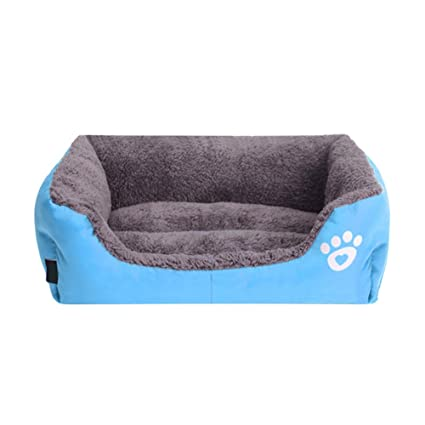 Minkle® gato del perro de perrito del amortiguador cama casa del animal caliente suave manta