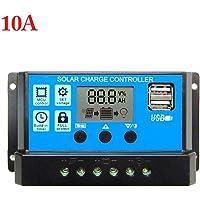 Oshide 60A / 50A / 40A / 30A / 20A / 10A 12V 24V Salida de Carga Solar automática Panel Solar Regulador fotovoltaico Controlador Controladores PWM LCD Dual USB 5V